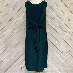 Ann Taylor Sleeveless Front Tie Dress